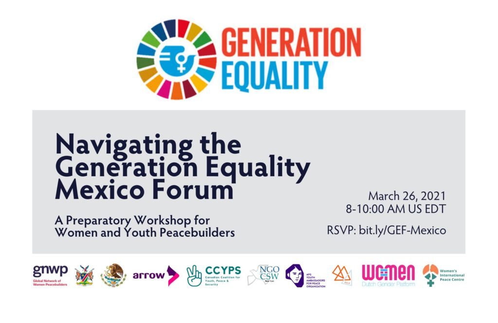 Grassroots Women Peacebuilders Join the Generation Equality Forum